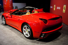 Back view of a Red Ferrari California Royalty Free Stock Photography