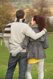 Back View Of Romantic Teenage Couple stock photo