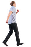 Back view of running business man Royalty Free Stock Photo