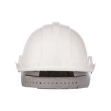 Back view of safety helmet cap isolated white. Front view of safety helmet cap isolated white royalty free stock photography