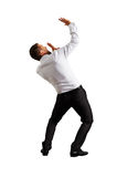 Back view of scared businessman Royalty Free Stock Photos