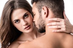 back view of sensual couple royalty free stock image