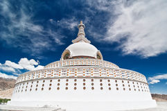 Back view of Shanti Stupa Stock Photo