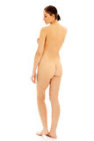 Back view of slim nude woman standing Royalty Free Stock Photo