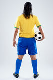 Back view soccer man Stock Image