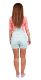 Back view of standing young beautiful  redhead woman Royalty Free Stock Photography