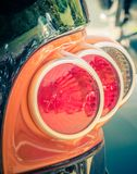 Back view tail light of a customized motorcycle stock photography