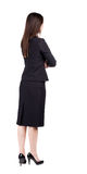 Back view of thoughtful business woman contemplating. Royalty Free Stock Photos