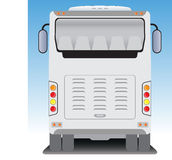 Back  view of Tourist bus Stock Photo