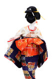 Back view of a traditional Japanese doll Stock Image