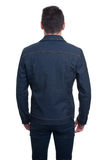 Back view of Trendy handsome young man isolated Royalty Free Stock Image