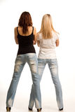 Back view of two sexy girls Stock Photography