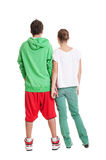 Back view of two teenagers Royalty Free Stock Image