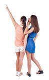 Back view of two women. Stock Image