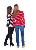 Back view of two young girl Royalty Free Stock Photo