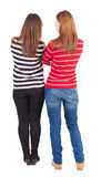 Back view of two young girl Royalty Free Stock Images