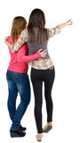 Back view of two young woman Royalty Free Stock Image
