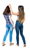 Back view of two young woman Royalty Free Stock Photography