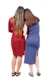 Back view of two young woman. Royalty Free Stock Photos
