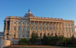 Back view at the United States Capitol. United States Capitol is located on a top of a Capitol Hill in Washington D.C., USA. It is the seat of the United States Royalty Free Stock Images