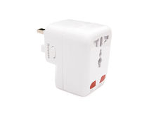 Back view of a universal adapter Royalty Free Stock Photo