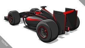 Back view vector fast cartoon formula race car illustration art Royalty Free Stock Image