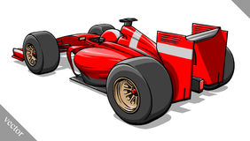 Back view vector fast cartoon formula race car illustration art Royalty Free Stock Photography