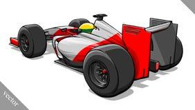 Back view vector fast cartoon formula race car illustration art Royalty Free Stock Images