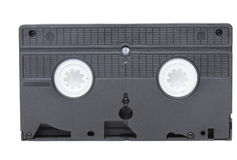 Back view of vhs video tape Royalty Free Stock Photography