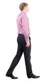 Back view of walking  business man Royalty Free Stock Photo