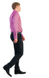 Back view of walking  business man Stock Image
