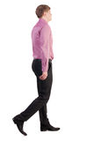 Back view of walking  business man Royalty Free Stock Image