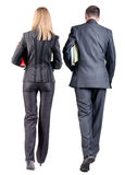 Back view of  walking business team Stock Photography