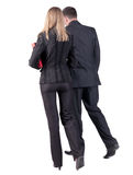 Back view of walking business team Stock Image
