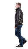 Back view of walking  handsome man Royalty Free Stock Photos