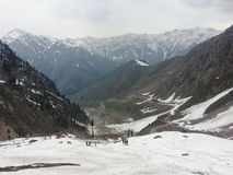 Back view of the way to Lake Saif ul Malook Stock Photography
