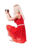 Back view of woman photographing Stock Photography