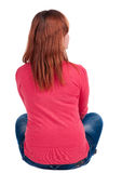 Back view of woman sitting Royalty Free Stock Images