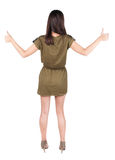 Back view of  woman thumbs up Royalty Free Stock Photo