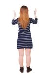 Back view of woman. Royalty Free Stock Images