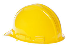 Isolated Hard Hat - 45° Back Yellow Royalty Free Stock Photography