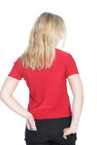 Back view of a young blond woman Royalty Free Stock Photos