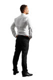 Back view of young businessman Stock Photo