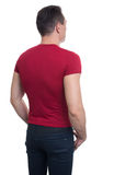 Back view of young casual man, isolated Stock Photos