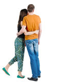 Back view of young couple Royalty Free Stock Image