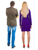 Back view of young couple Royalty Free Stock Photos