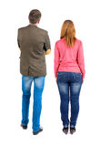 Back view of young couple Royalty Free Stock Images