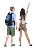 Back view of young couple Royalty Free Stock Photography