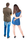 Back view of young couple Stock Photos