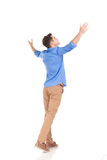 Back view of a young fashion man Royalty Free Stock Images